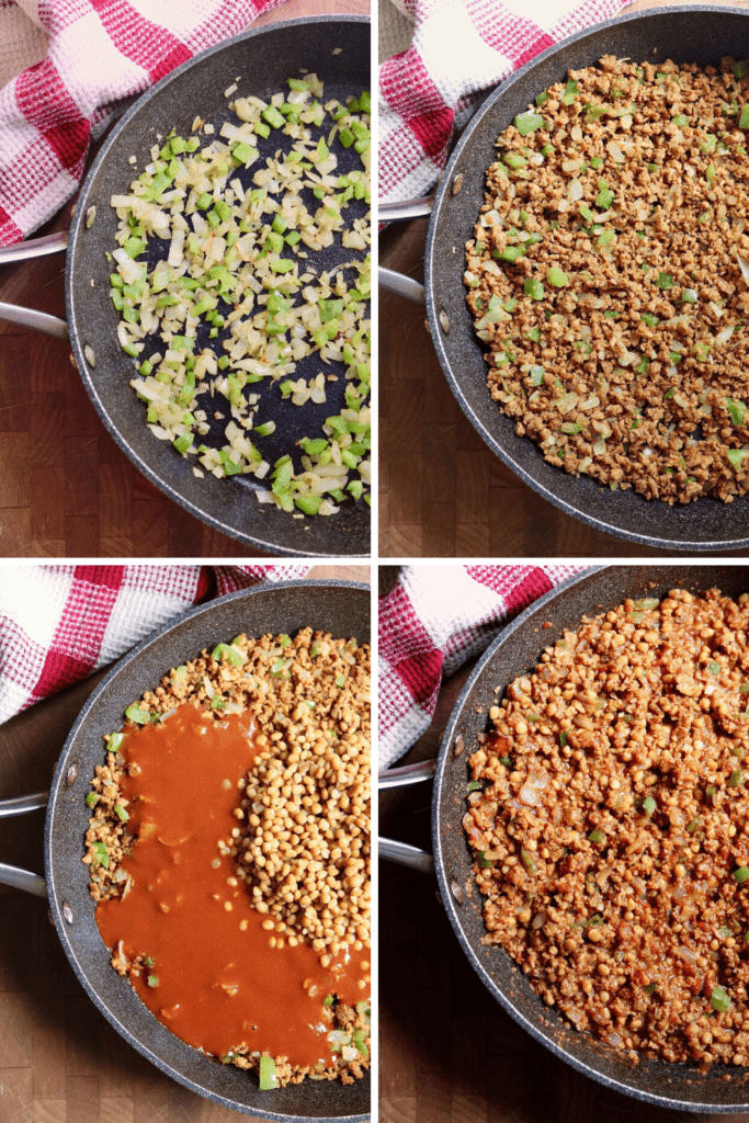 step by step photos how to make vegan sloppy joes
