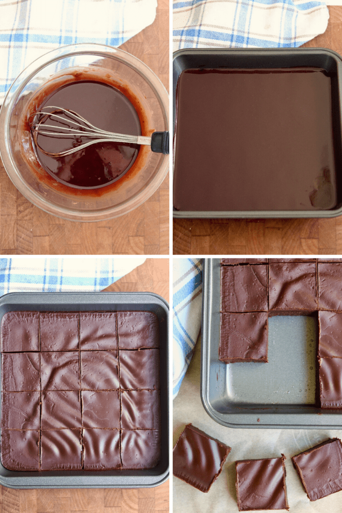step by step photos how to make frosting for brownies