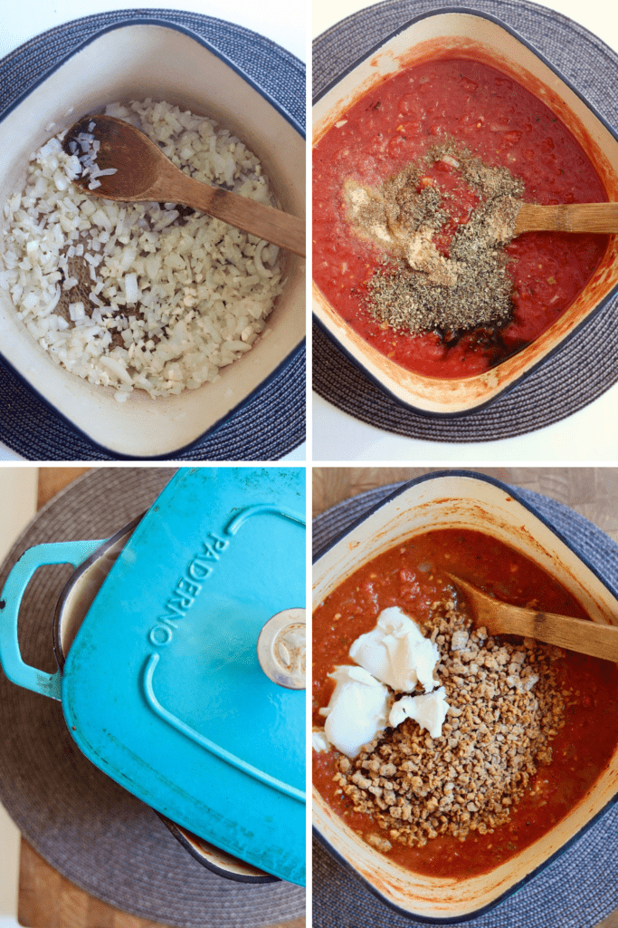 step by step photos how to make meatless pasta sauce