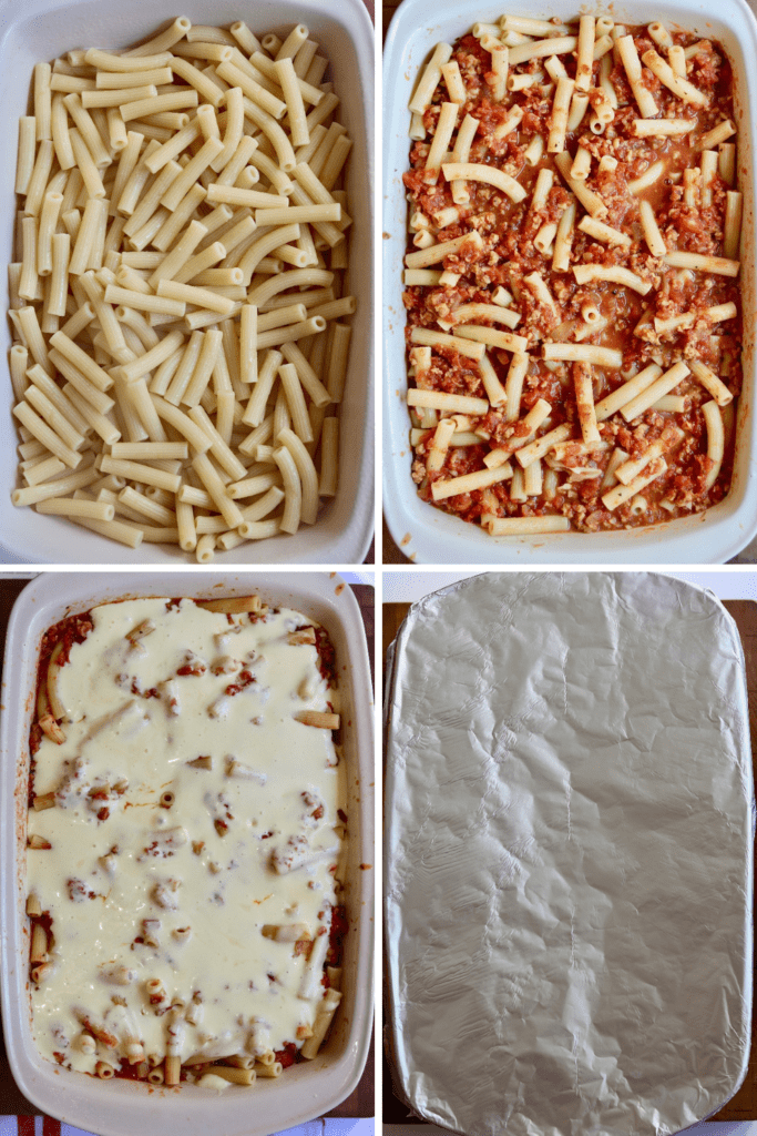 step by step photos how to assemble baked ziti