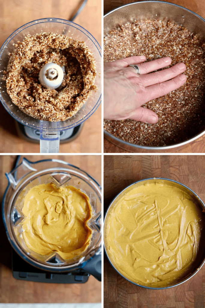 step by step photos how to make vegan pumpkin cheesecake