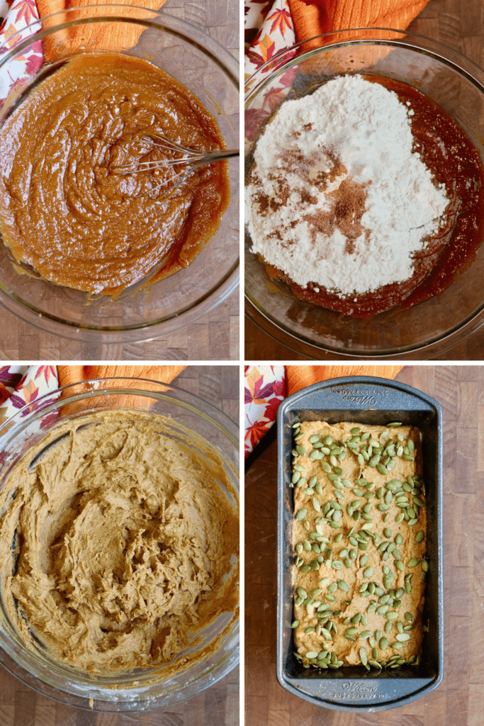 step by step photos how to make vegan pumpkin bread