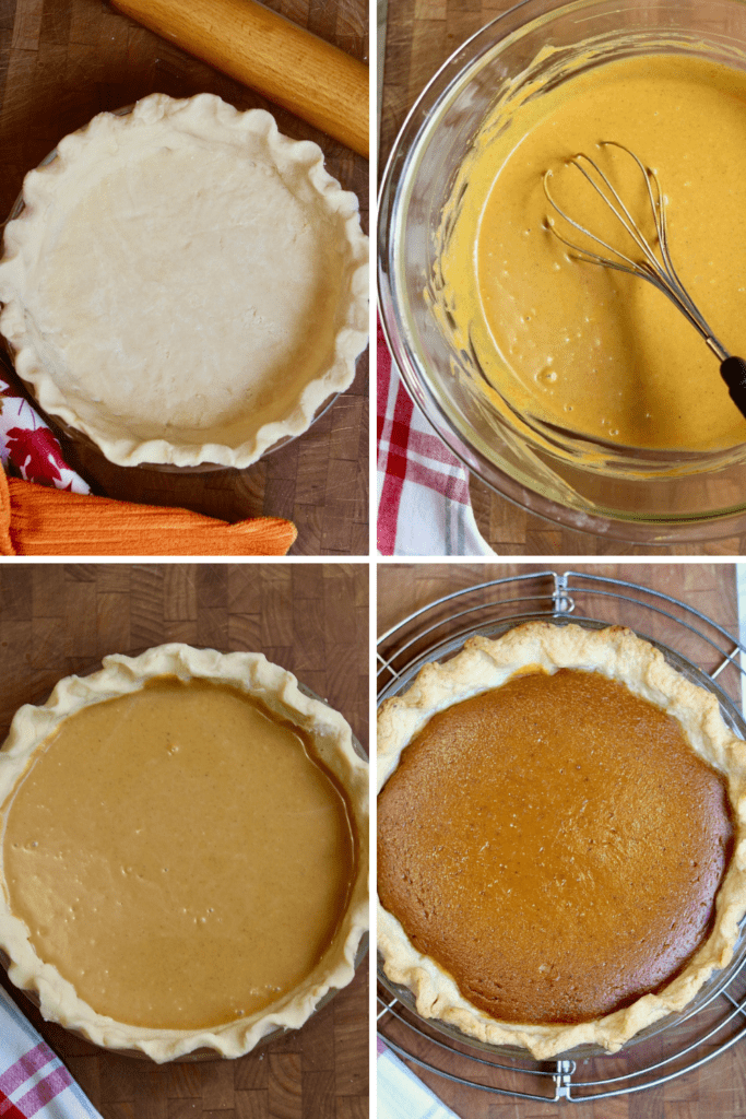 step by step photos how to make vegan pumpkin pie