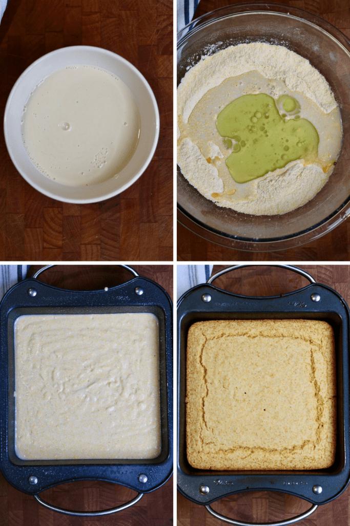step by step photos how to make vegan cornbread