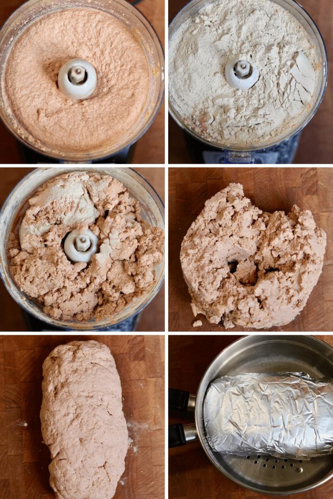 step by step photos how to make vegan ham