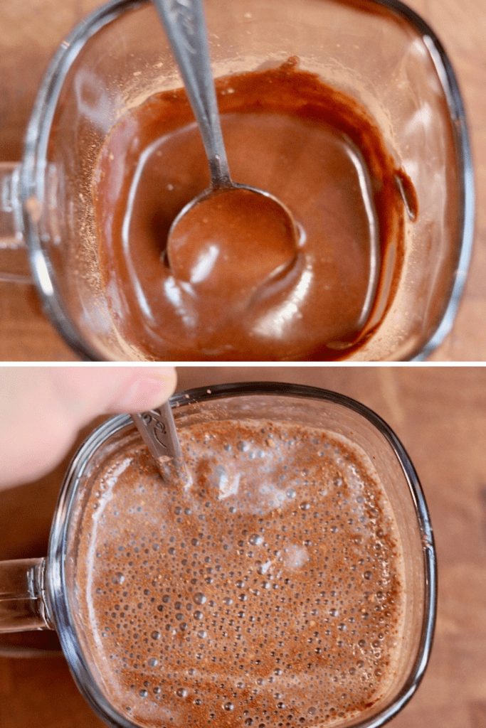 step by step photos how to make vegan hot chocolate