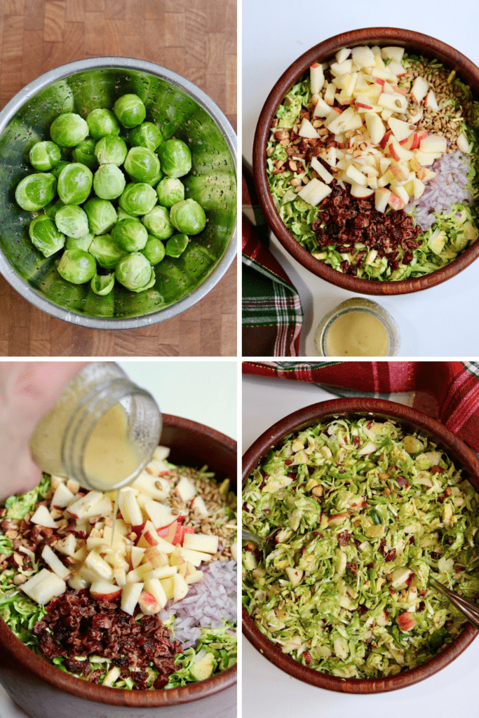 step by step photos how to make brussels sprout salad