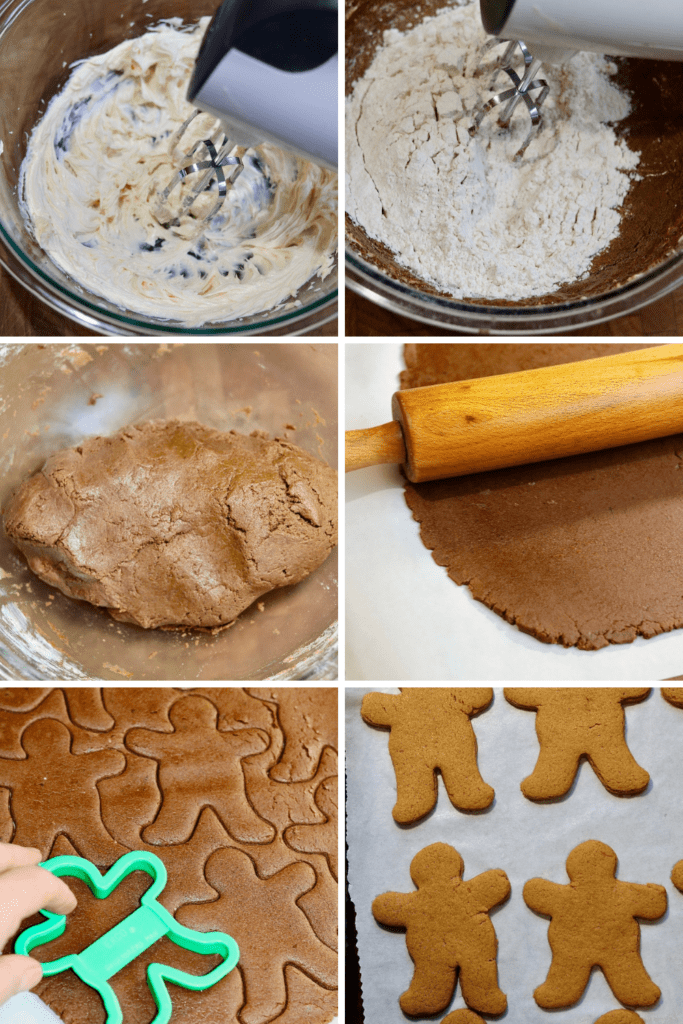 step by step photos how to make vegan gingerbread cookies
