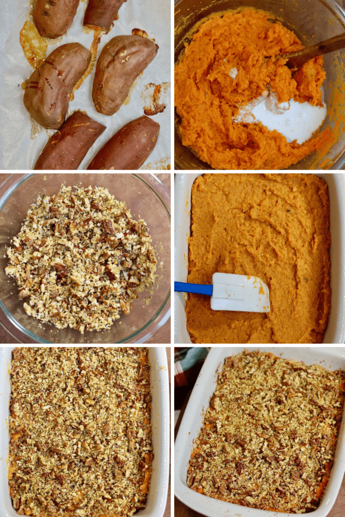 step by step photos how to make sweet potato casserole