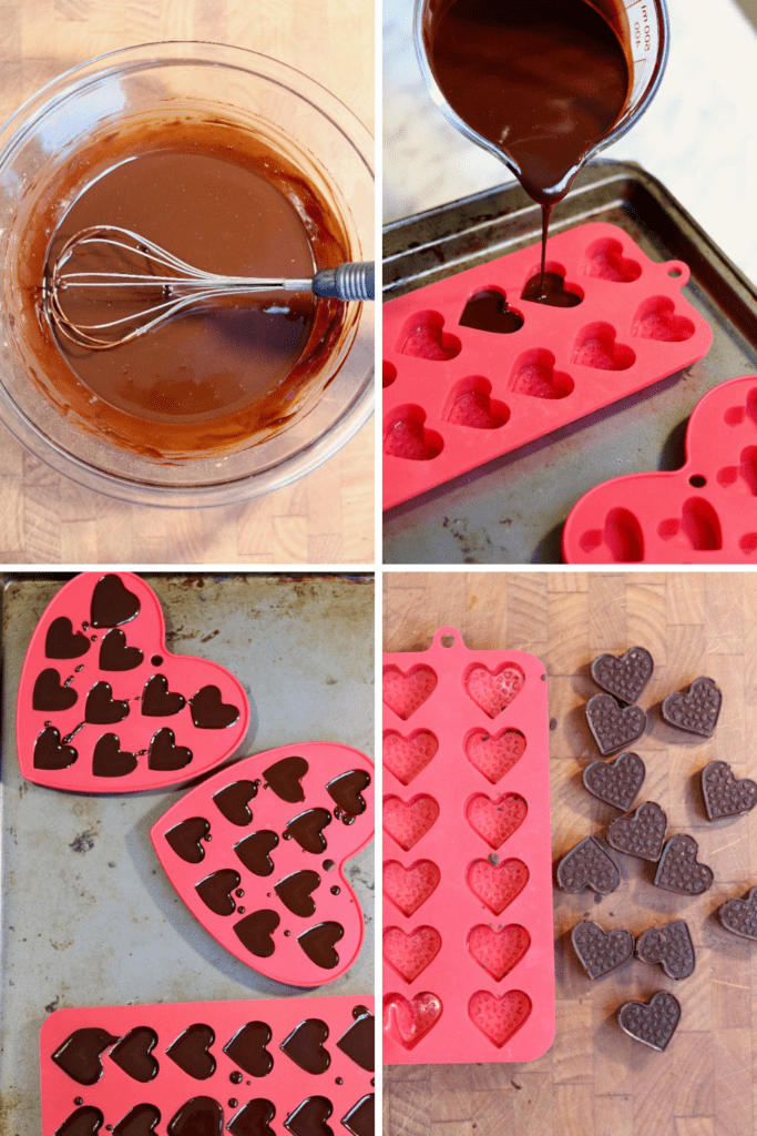 step by step photos how to make homemade dairy free chocolates