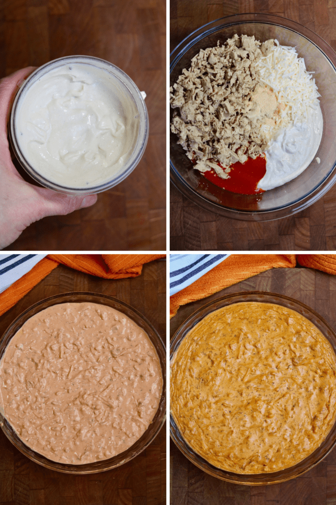 step by step photos how to make vegan buffalo chicken dip
