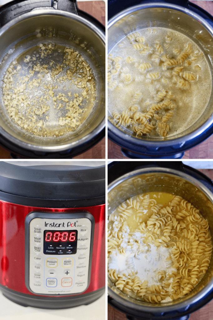 step by step photos how to make creamy vegan garlic pasta