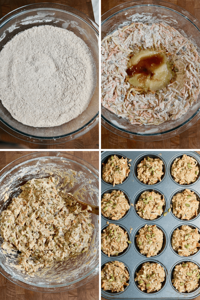 step by step photos how to make glory bowl muffins