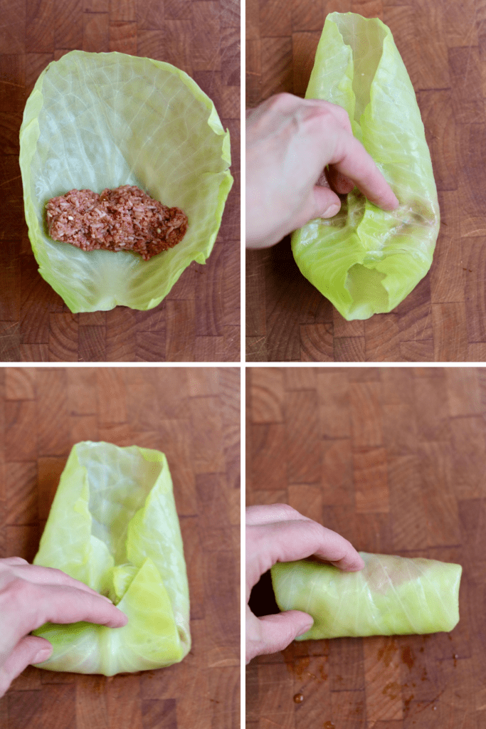 step by step photos how to roll cabbage rolls