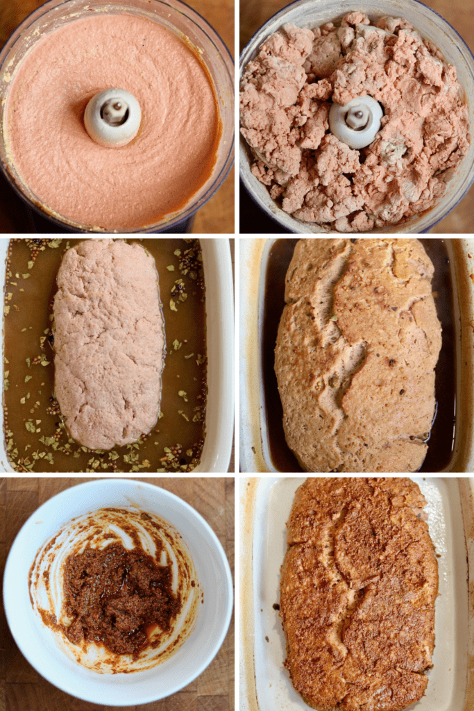 step by step photos how to make vegan corned beef