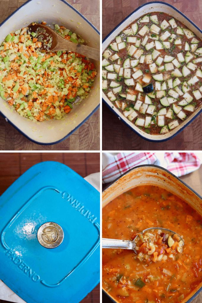 step by step photos how to make minestrone soup
