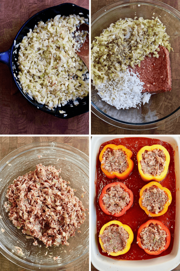 step by step photos how to make vegan stuffed peppers