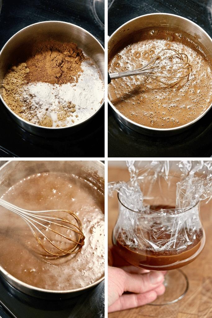 step by step photos how to make vegan chocolate pudding