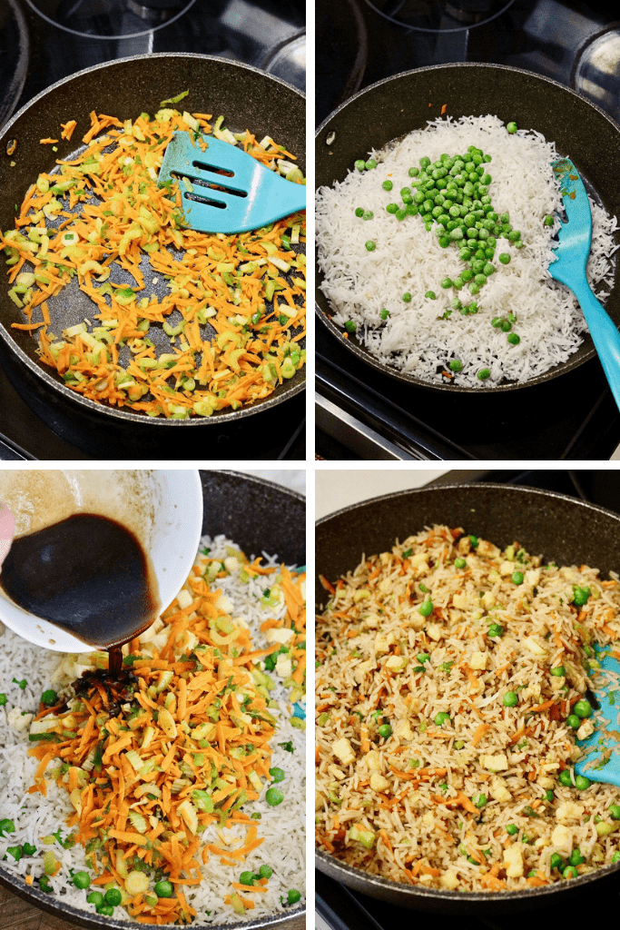step by step photos how to make vegan fried rice