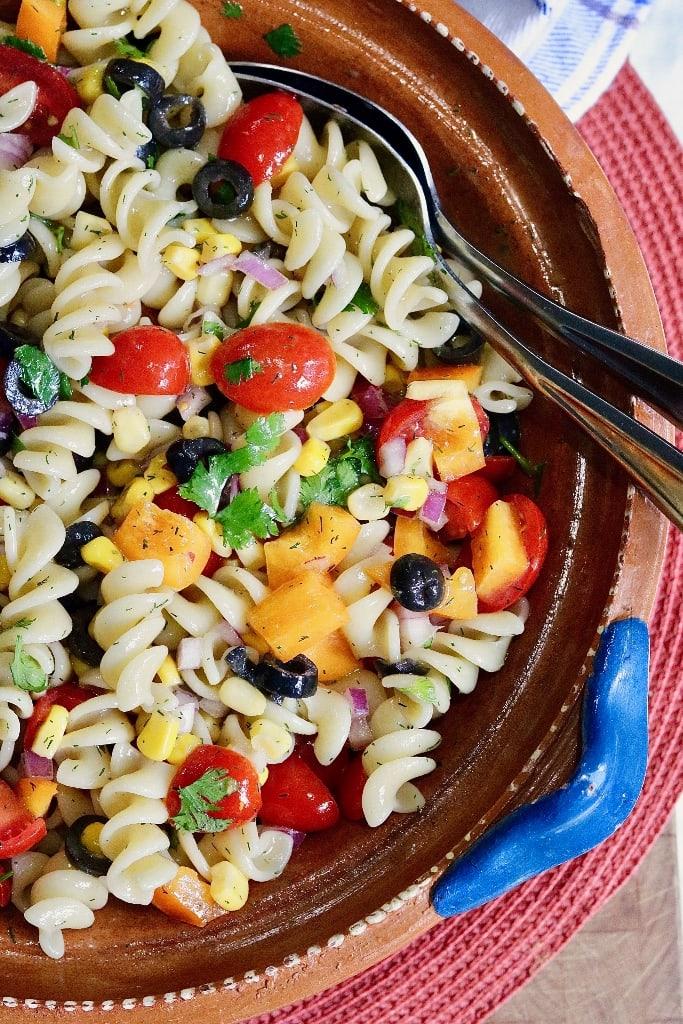 Vegan Pasta Salad - The Cheeky Chickpea