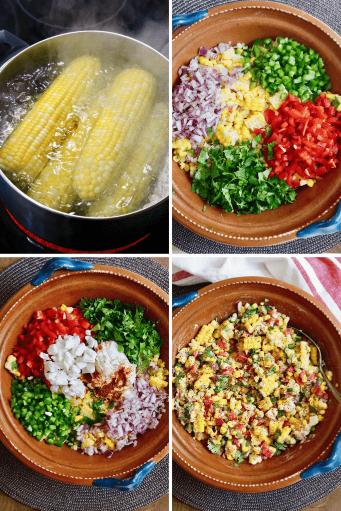 step by step photos how to make vegan mexican street corn salad