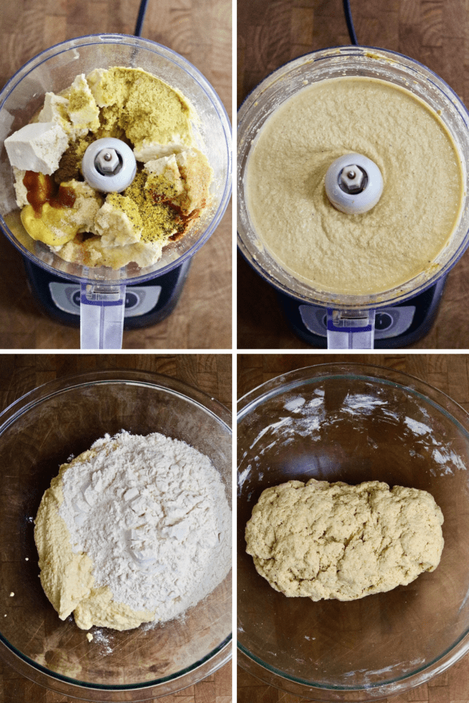 step by step photos how to make seitan chicken dough