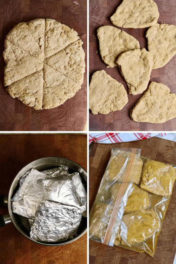 step by step photos how to cook the seitan chicken