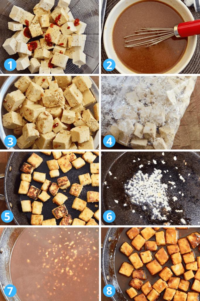 step by step photos how to make general tsos tofu
