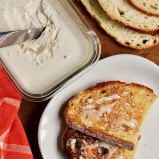 vegan butter spread on toast