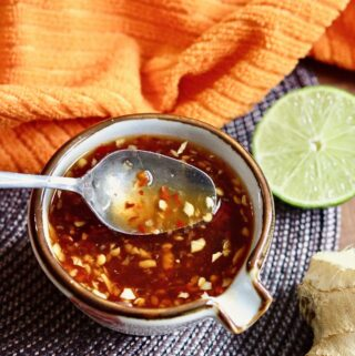 vietnamese dipping sauce in a bowl