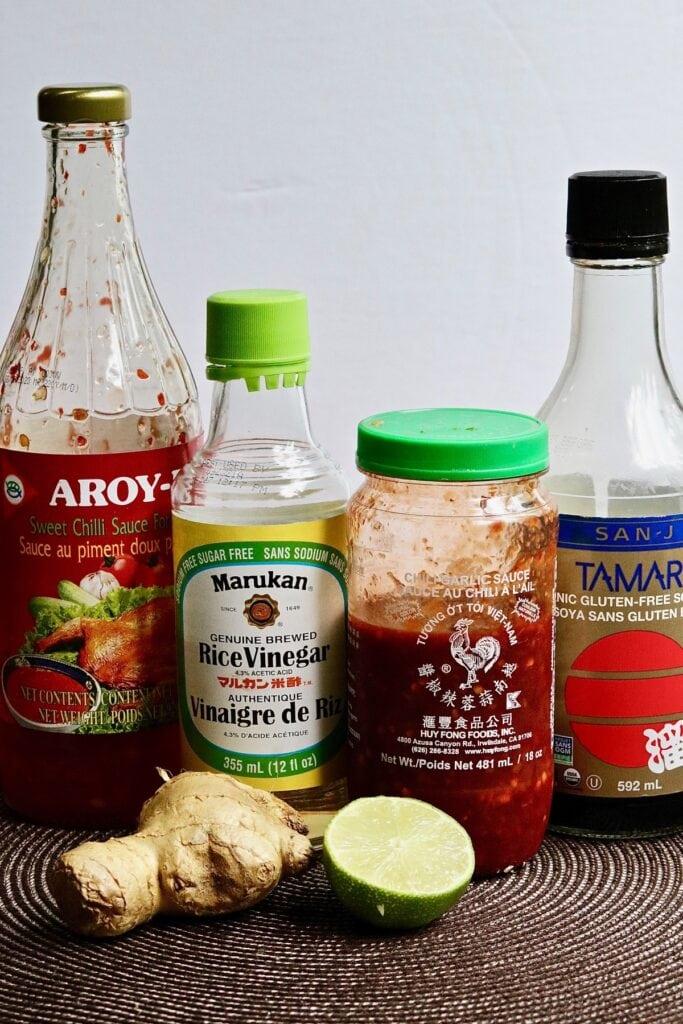 photo of all ingredients needed to make vietnamese dipping sauce