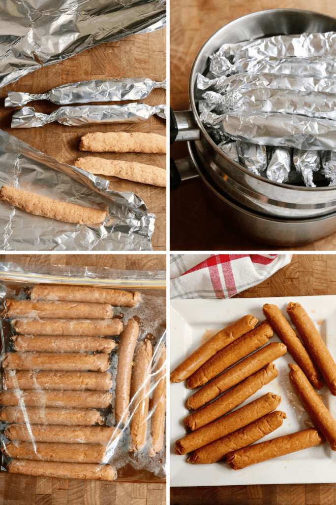 step by step photos how to cook vegan hot dogs