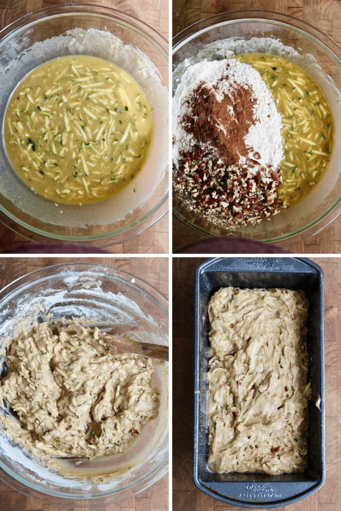 step by step photos how to make vegan zucchini bread